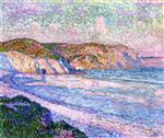 Theo van Rysselberghe  - Bilder Gemälde - The Beach at Morgat