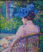 Theo van Rysselberghe  - Bilder Gemälde - The Lady with the Blue Hat