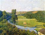 Theo van Rysselberghe  - Bilder Gemälde - The Valley of the Sambre