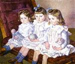 Theo van Rysselberghe  - Bilder Gemälde - Three Daughters of Thomas Braun