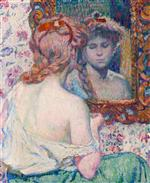 Theo van Rysselberghe  - Bilder Gemälde - Woman in the Mirror