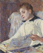 Theo van Rysselberghe  - Bilder Gemälde - Young Lady Reading