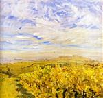 Max Slevogt - Bilder Gemälde - Early Autumn in the Palatinate - Vineyards near Neukastel