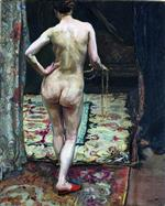 Max Slevogt - Bilder Gemälde - Female Nude from the Back