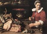 Frans Snyders - Bilder Gemälde - A Cook with Food