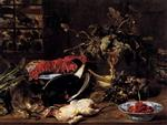 Frans Snyders  - Bilder Gemälde - Still Life with Crab, Poultry and Fruit