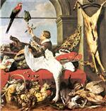 Frans Snyders  - Bilder Gemälde - Still life with game, poultry and fruit
