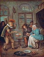 Jan Havicksz Steen  - Bilder Gemälde - Interior with Figures