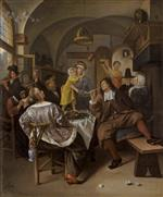 Jan Havicksz Steen  - Bilder Gemälde - Merry Company