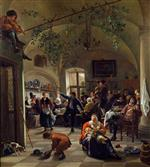 Jan Havicksz Steen  - Bilder Gemälde - Merrymaking in a Tavern
