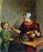 Jan Havicksz Steen  - Bilder Gemälde - Mother and Child