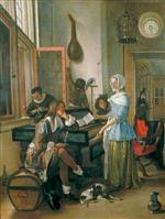 Jan Havicksz Steen  - Bilder Gemälde - Musical Company