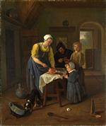 Jan Havicksz Steen  - Bilder Gemälde - Peasant Family at Meal time