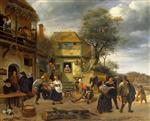 Jan Havicksz Steen  - Bilder Gemälde - Peasants before an Inn