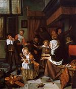 Jan Havicksz Steen  - Bilder Gemälde - The Feast of Saint Nicholas