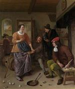 Jan Havicksz Steen  - Bilder Gemälde - The Interior of an Inn