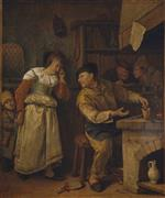 Jan Havicksz Steen  - Bilder Gemälde - The Last Coin
