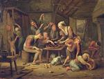 Jan Havicksz Steen  - Bilder Gemälde - The Lean Kitchen