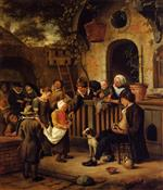 Jan Havicksz Steen  - Bilder Gemälde - The Little Alms Collector