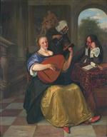 Jan Havicksz Steen  - Bilder Gemälde - The Lute Player