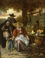 Jan Havicksz Steen  - Bilder Gemälde - The Pancake Woman
