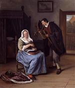 Jan Havicksz Steen  - Bilder Gemälde - The Proposal