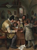 Jan Havicksz Steen  - Bilder Gemälde - The Schoolmaster