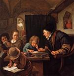 Jan Havicksz Steen  - Bilder Gemälde - The Severe Teacher