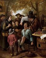 Jan Havicksz Steen  - Bilder Gemälde - The Tooth-Puller