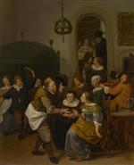 Jan Havicksz Steen  - Bilder Gemälde - The Wedding Party