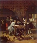 Jan Havicksz Steen  - Bilder Gemälde - Tric-Trac Players