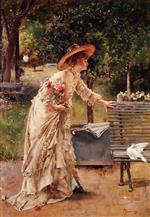 Alfred Emile Stevens - Bilder Gemälde - Afternoon in the Park