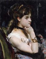 Bild:Woman Wearing a Bracelet