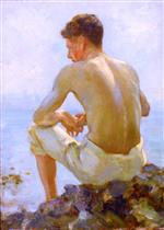 Henry Scott Tuke - Bilder Gemälde - A Young Sailor