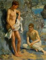 Henry Scott Tuke - Bilder Gemälde - After the Bath