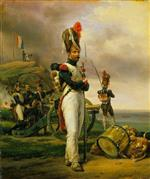 Emile Jean Horace Vernet - Bilder Gemälde - A Grenadier of the Guard at Elba
