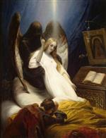 Emile Jean Horace Vernet - Bilder Gemälde - Angel of Death