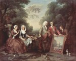 William Hogarth - Bilder Gemälde - Familie Fountaine, Familienportrait