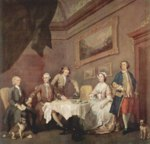 William Hogarth - Bilder Gemälde - Familie Strode, Familienportrait