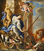 Simon Vouet - Bilder Gemälde - Ceres Vanquishing the Attributes of War