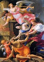 Simon Vouet - Bilder Gemälde - Saturn, Conquered by Amor, Venus and Hope