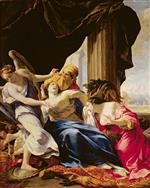 Simon Vouet  - Bilder Gemälde - The Death of Dido