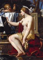 Simon Vouet  - Bilder Gemälde - The Toilet of Venus