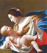 Simon Vouet  - Bilder Gemälde - The Virgin and Child