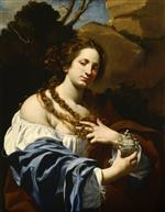 Simon Vouet  - Bilder Gemälde - Virginia da Vezzo, the Artist's Wife, as the Magdalen