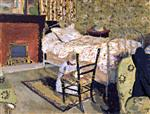 Edouard Vuillard - Bilder Gemälde - Annette in front of the Rail-Backed Chair
