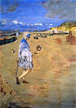 Edouard Vuillard - Bilder Gemälde - Annette on the Beach at Villerville