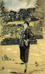 Edouard Vuillard  - Bilder Gemälde - Black Dress