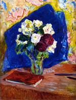 Edouard Vuillard  - Bilder Gemälde - Bouquet and Book