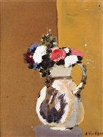 Edouard Vuillard  - Bilder Gemälde - Bouquet in a White Pitcher